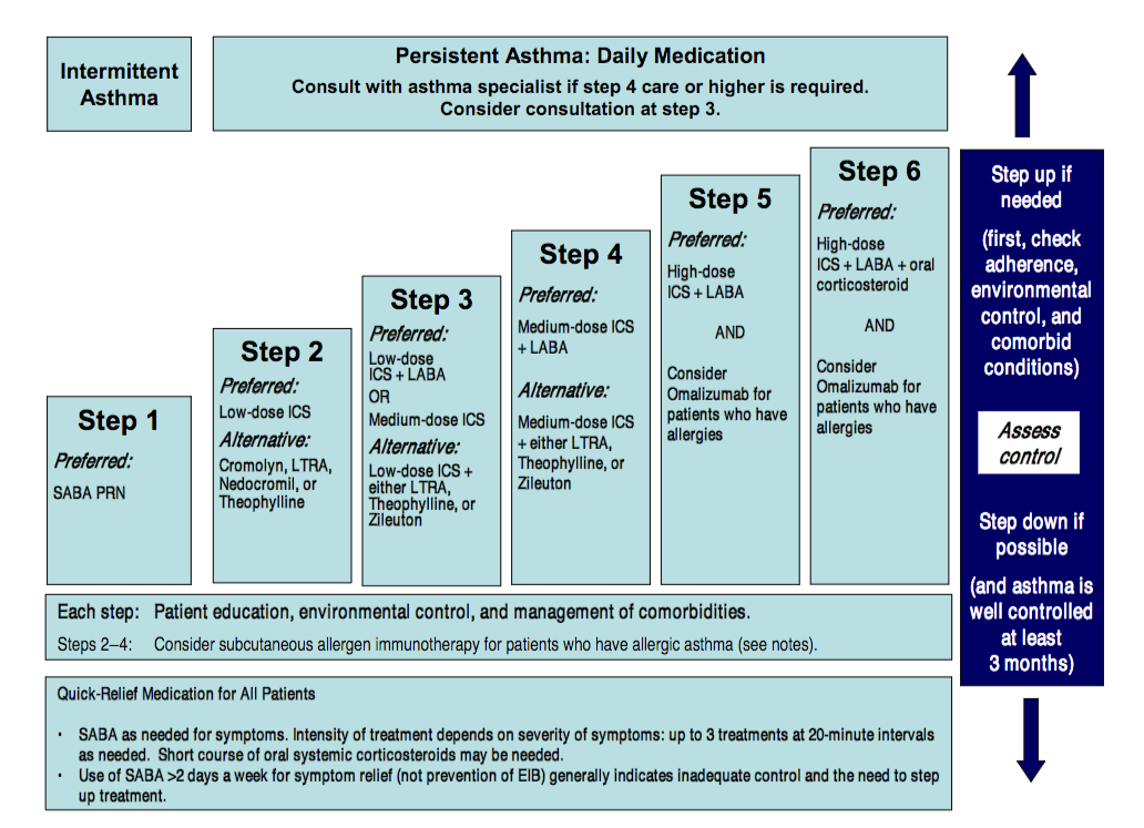 Asthma severity and initiating treatment for ages 12 years ...